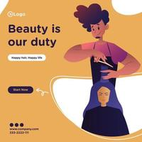 Beauty is our duty banner design template vector