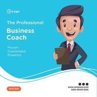 Professional business coach banner design template vector