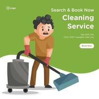 Search and book cleaning service banner design vector
