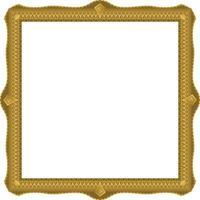 Blank vintage gold picture frame vector