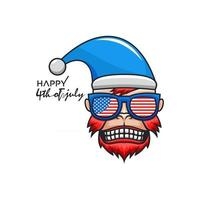 Monkey face for American 4th of july design vector