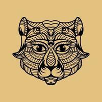 Animal cat line art vector