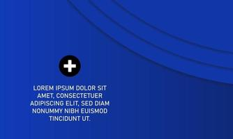 Abstract Gradient Blue Business Background Banner vector
