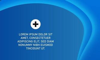 Abstract Blue Banner Background With Curves vector
