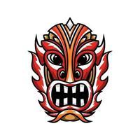 Character Tiki mask art design vector