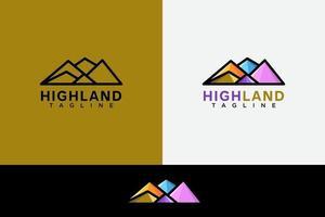 High land or mountain logo vector