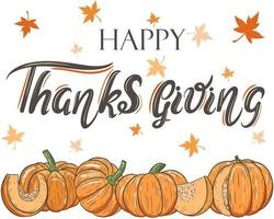 Happy thanksgiving day greeting banner vector illustration