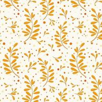 Autumn pattern with leaves vector illustration