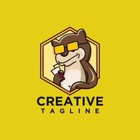 Character otter design vector
