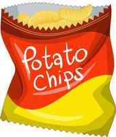 Opened pack of Potato chips isolated vector