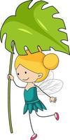 Simple cartoon character of a little fairy isolated vector