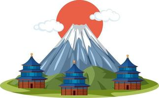 Mount Fuji landmark of Japan vector