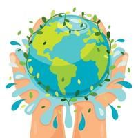 Concept Of Mother Earth Day vector