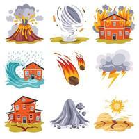 catástrofe y crisis de desastres naturales vector