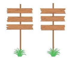 Wooden signboards vector design