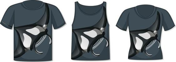 Front of t-shirt with stingray template vector