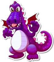 Cute Dragon cartoon character sticker vector