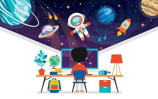 Concept Of Computer Technology For Education And Business vector