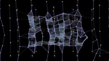 abstrakt geometri med trådramar och fyrkanter - slinga video