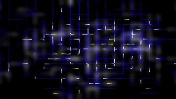 futuristiskt ljusgaller - slinga video