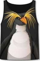 Front of tank top sleeveless with penguin pattern vector