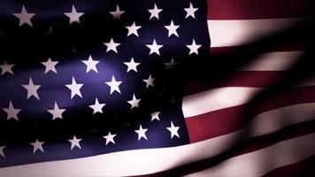 la bandera americana ondea en la brisa - lazo video