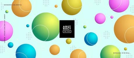 3d Geometric Gradient Sphere Shapes Background. vector