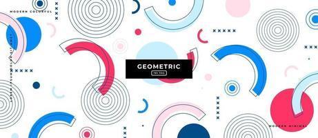 Geometric Shapes Background Design. vector