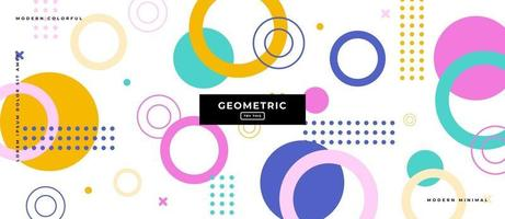 Graphic Design Geometric Shapes in White Background. vector