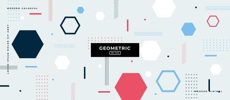 Hexagonal Geometric Shapes in Gray Background. vector