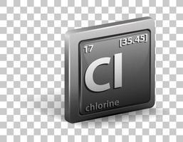 Chlorine chemical element vector