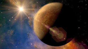 The planet Venus rotates in space - Loop video