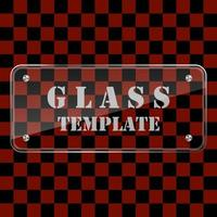 Glass template isolated on transparent background vector