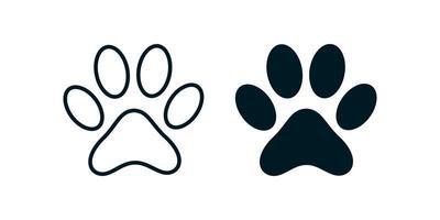 animal paw print icon Free Vector