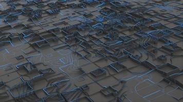 estrutura futurística de geometria 3d video