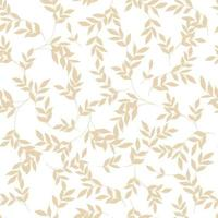 Silhouettes leaves seamless pattern. Simple doodle cartoon style. vector