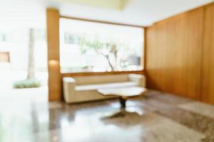 Desenfoque abstracto y vestíbulo del hotel desenfocado para el fondo foto