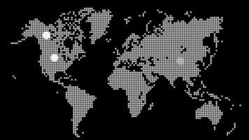concept de technologie de carte du monde avec fond de clignotement cible video