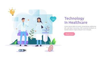 Telemedicine healthcare services concept. online consultation treatment with doctor using app. innovative medical diagnosis technology. flat vector illustration for web page and mobile website
