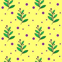 purple grass floral seamless pattern for background, textile, print vector