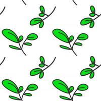 leaves floral seamless pattern for background, textile, print vector
