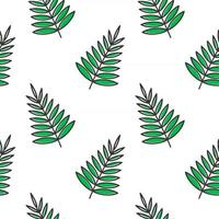 palm leaves floral seamless pattern for background, textile, print vector