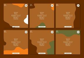 social media post banner template in abstract autumn or fall theme vector