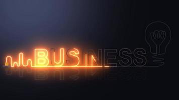 BUSINESS neon light with light bulb video