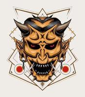 Hanya illustration. Devil head vector design template