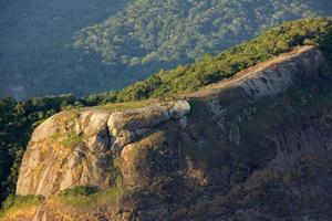 huella visual de la piedra gavea en río de janeiro foto
