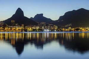 Sunset at the Rodrigo de Freitas lagoon photo