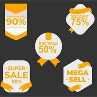 collection of sales label for promotion vector