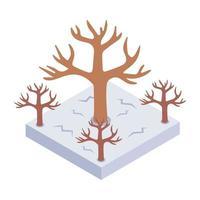 sequía y tierra estéril vector