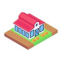 rancho y casa de vajilla vector